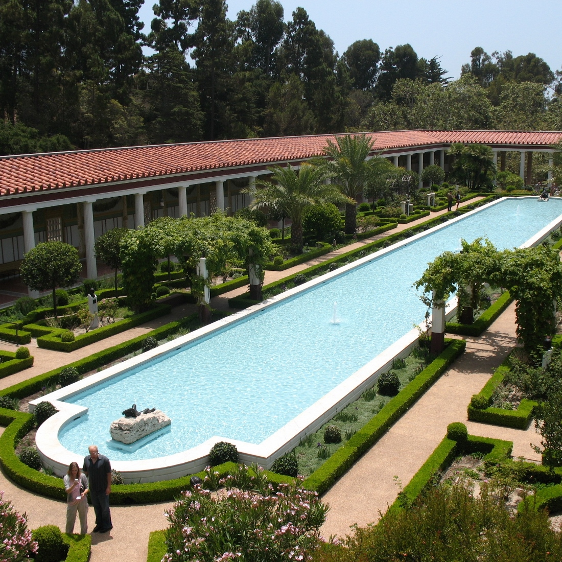 Pool in the outer garden at getty villa 1100x1100 for Outer garden